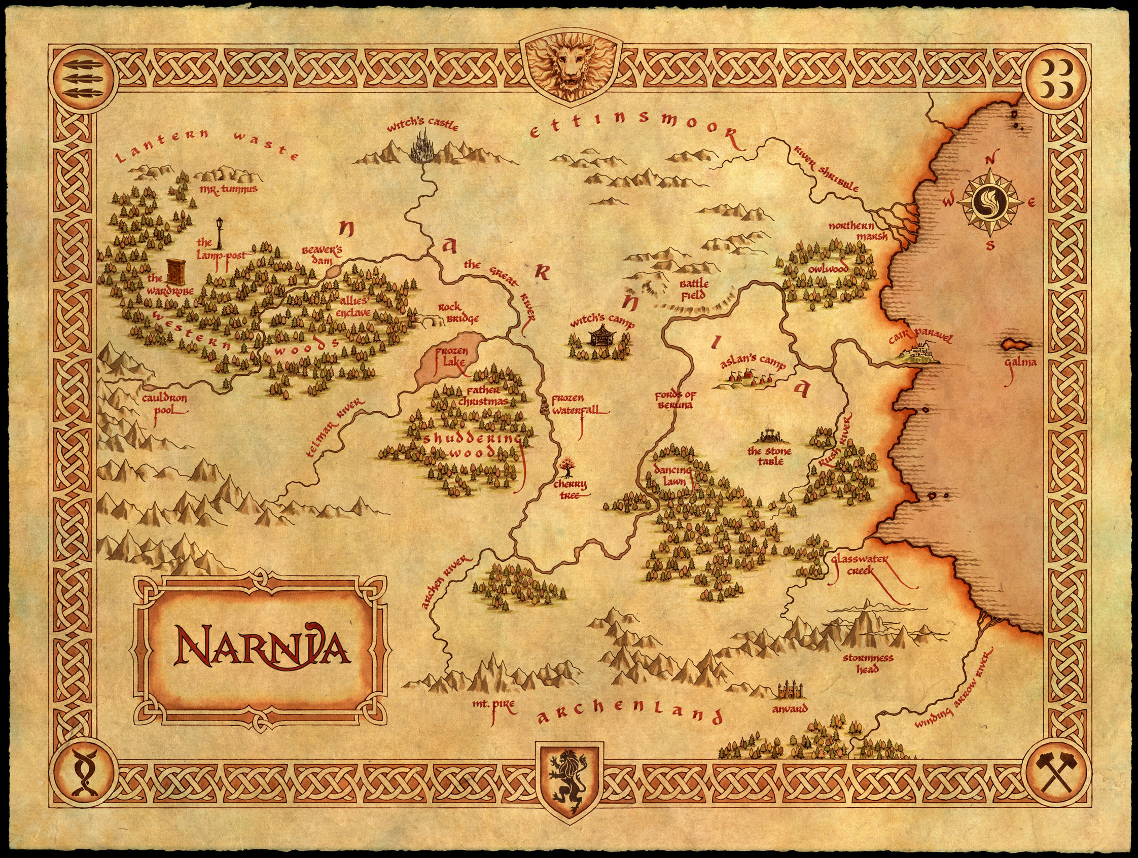 The map of narnia click map for full size