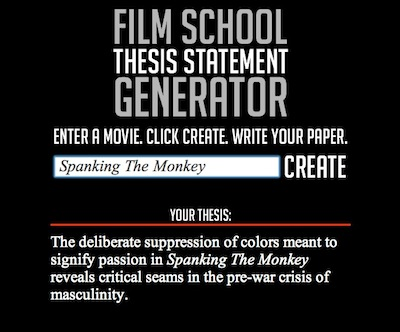 movie thesis statement generator Procurement masters thesis thesis statement for the movie the help college application report writing help essay writing service articles.