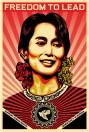 Orignal Shepard Fairey Aung San Poster, 2009