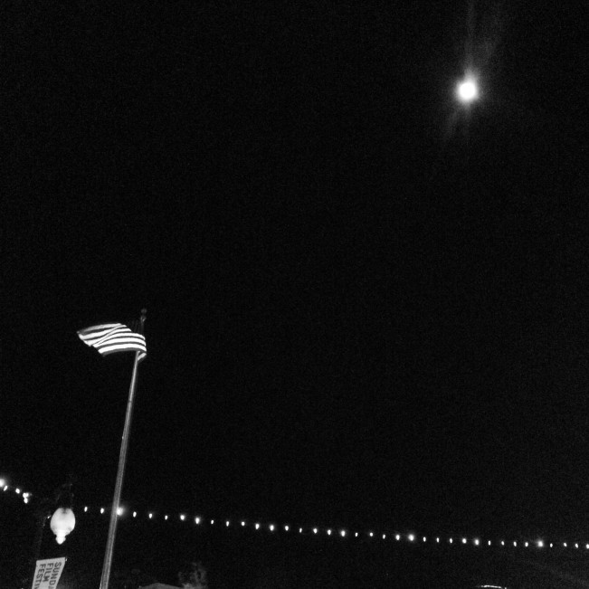 Main Street moon