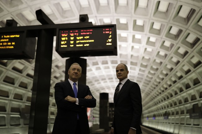 President Frank Underwood at Foggy Bottom Metro station in Washington, D.C., May 22, 2017 Photo © 2017 by Pete Souza