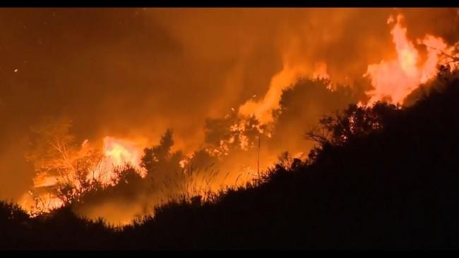 Pendleton wildfire